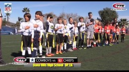 Cowboys Chiefs NFL Flag Football Playoffs – Round 1