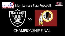 Raiders vs Redskins – Matt Leinart Flag Football Championship